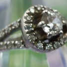 RING sz 7 sterling 925 silver THAILAND ATI sparkling CZz BLING ring