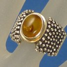 sz 7  RING: sterling 925 silver Buggy Amber w/ Bug parts by designer SILPADA