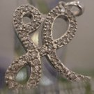 """vintage INITIAL """"H"""" PENDANT sterling 925 RHINESTONES SPARKLE SO MUCH THEY LOOK L"""