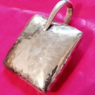 heavy SOLID STERLING SILVER HAMMERED PILLOW SHAPED PENDANT by SILPADA