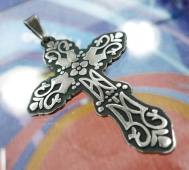 PENDANT CROSS vintage and unique * STERLING * SILVER * SIGNED * CII MEXICO