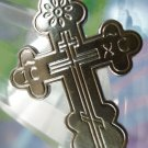 "CROSS PENDANT : sterling 925 silver SIGNED (RUSSIAN)  ""M"" IN A DIAMOND"