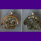 STERLING & ENAMEL INSPIRATIONAL RAINBOW CHARM : FOLLOW YOUR DREAMS