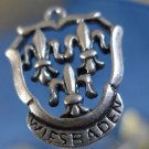 CHARM: sterling TRAVEL SOUVENIR WIESBADEN FLEUR DE LIS COAT OF ARMS ?