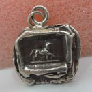 PYRRHA WAX SEAL PENDANT - STERLING HORSE - SYMBOL of INTELLIGENCE & INTUITION