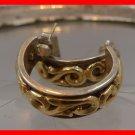 sterling & gold OPEN POST HOOP EARRINGS signed DELTAH