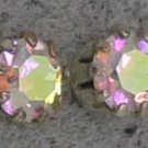 silver MYSTIC TOPAZ 5mm stud EARRINGS