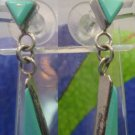 signed J & W BOONE post TURQUOISE & STERLING EARRINGS