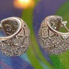 sterling 925 silver and ZIRCONIA HOOP EARRINGS - GIFT QUALITY