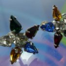 COLORFUL B. DAVID MULTI COLOR STONES TO FORM A STAR /  SCREW BACK EARRINGS