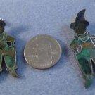 stud EARRINGS: vintage vtg Mexico Mosaic Turquoise & Lapis Scarecrow Jester