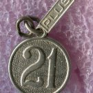 Vintage Wells Sterling Birthday Charm - 21 Plus