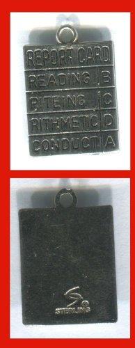 Vintage Spencer Sterling Silver Report Card Charm