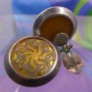 vintage RETRO  VICTORIA VARGA clip on sterling 925 silver EARRINGS