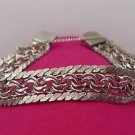 "vintage 7.5"" RHYTHM STERLING CHARM BRACELET: DOUBLE LINK 16mm WIDE - NWOT"