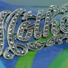 """Vintage Sterling 925 Silver & Marcasite """" Mother """" Brooch / Pin : A Great Gift"""