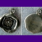 Sterling Silver PYRRHA Forget Me Not Wax Seal PENDANT - DISCOUNTED - NO CHAIN