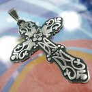 Beautiful Pendant Cross Vintage and Unique Sterling Silver Signed CII Mexico