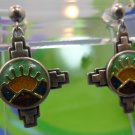 Post Earrings : Sterling 925 Silver Relios Carolyn Pollack Mountain Sunset