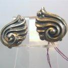 Vintage Art Deco Sterling Silver Screw Back Earrings