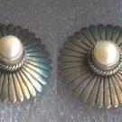 Post Earrings : Vintage Artie Yellowhorse Native American Pearl Sterling