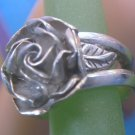 sz 6 Sterling Silver Open Rose Ring - Hand Crafted Signed AS & More