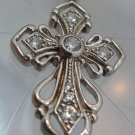 Cubic Zirconia CZ Cross Pendant Sterling 925 Silver from R China NWOT