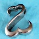 Jane Semour - JWBR -  Sterling Silver Open Heart Pendant w/ 18 Inch Chain