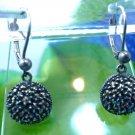 Hook Earrings Sterling Silver by Judith Jack - Dangle Pave Marcasite