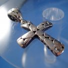 Unisex Chunky Cross : Sterling 925 Silver Unique Designer Pendant Cross