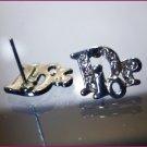 Earrings (Post) LOGO Rhinestone Designer BLING
