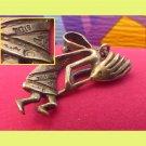 Kokopelli Flute Dancer Pendant - The Spirit Of The Southwest Sterling - Signed