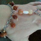 Jasper and quartz slave bracelet