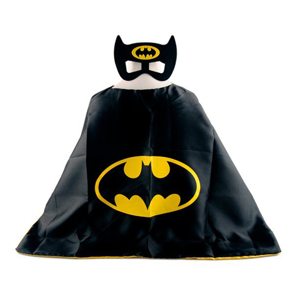 Mask+cape kids superhero capes batman costume boys girls for party