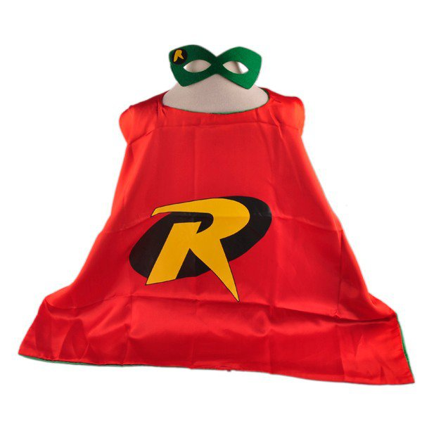 Mask+cape kids superhero capes robin costume boys girls for party