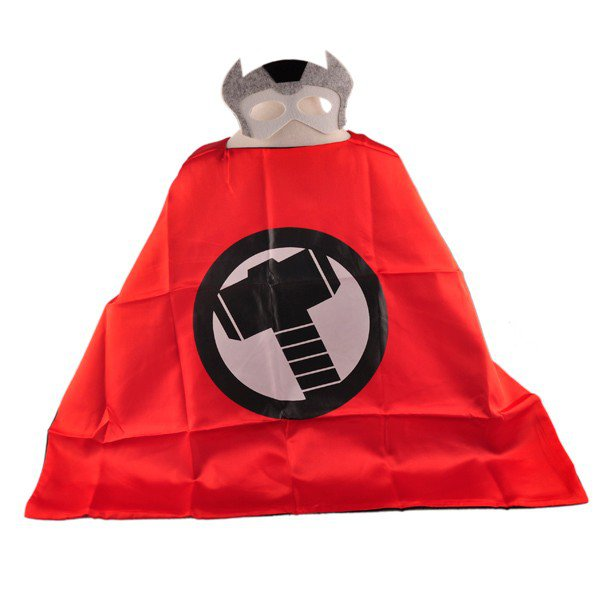 Mask+cape kids superhero capes tor costume boys girls for party