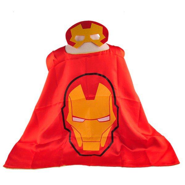 Mask+cape kids superhero capes iron man costume boys girls for party