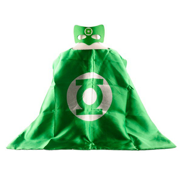 Mask+cape kids superhero capes green lantern costume boys girls for party
