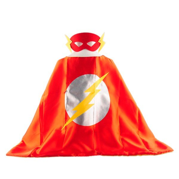 Mask+cape kids superhero capes flash costume boys girls for party