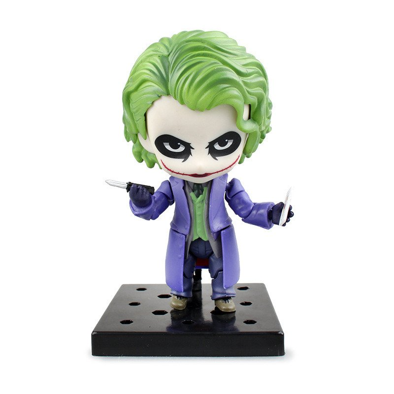 10cm Q version Suicide Squad Joker batman Justice league movable action figure toys Christmas gift
