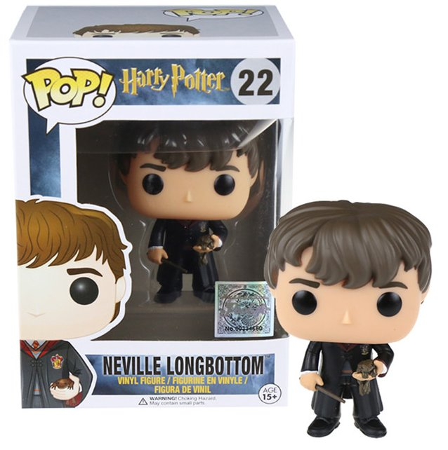 FUNKO POP 10cm Harry Potter Neville Longbottom Action Figure Bobble Head Box Collectible Vinyl