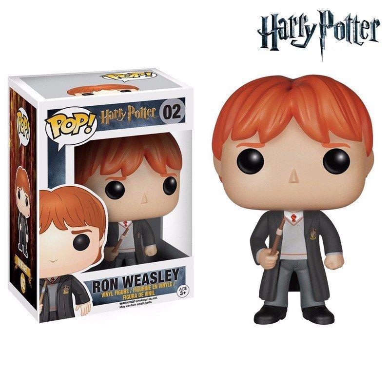 FUNKO POP 10cm Harry Potter Ron Weasley Action Figure Bobble Head Box Collectible Vinyl