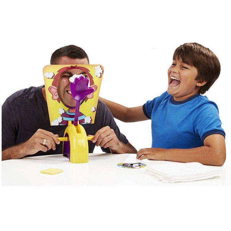 Fun Cream Pie In The Face Family Parent Child Prank Jokes Games Anti Stress Kids Toys Birthday Game