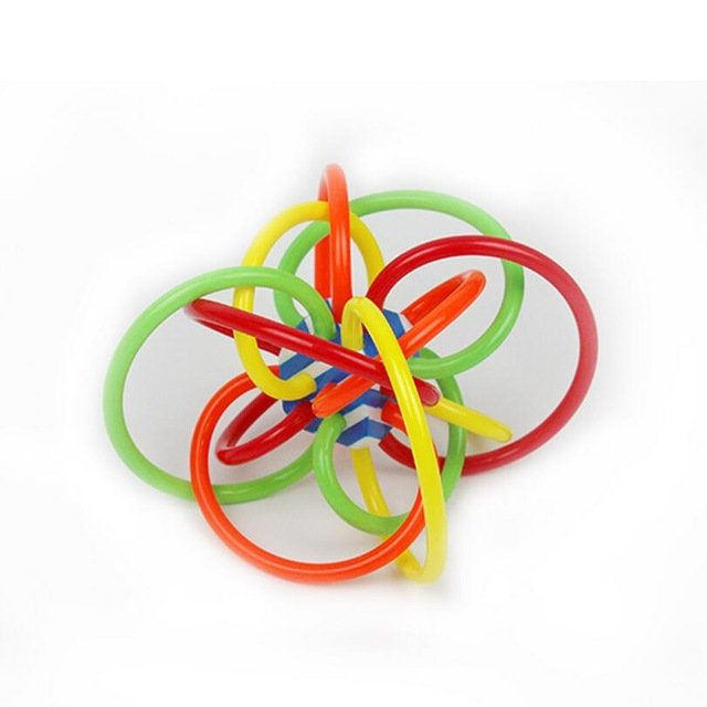 Manhattan Toy Winkel Color Burst Rattle and Sensory Teether Activity Baby Toys 3-12 Months