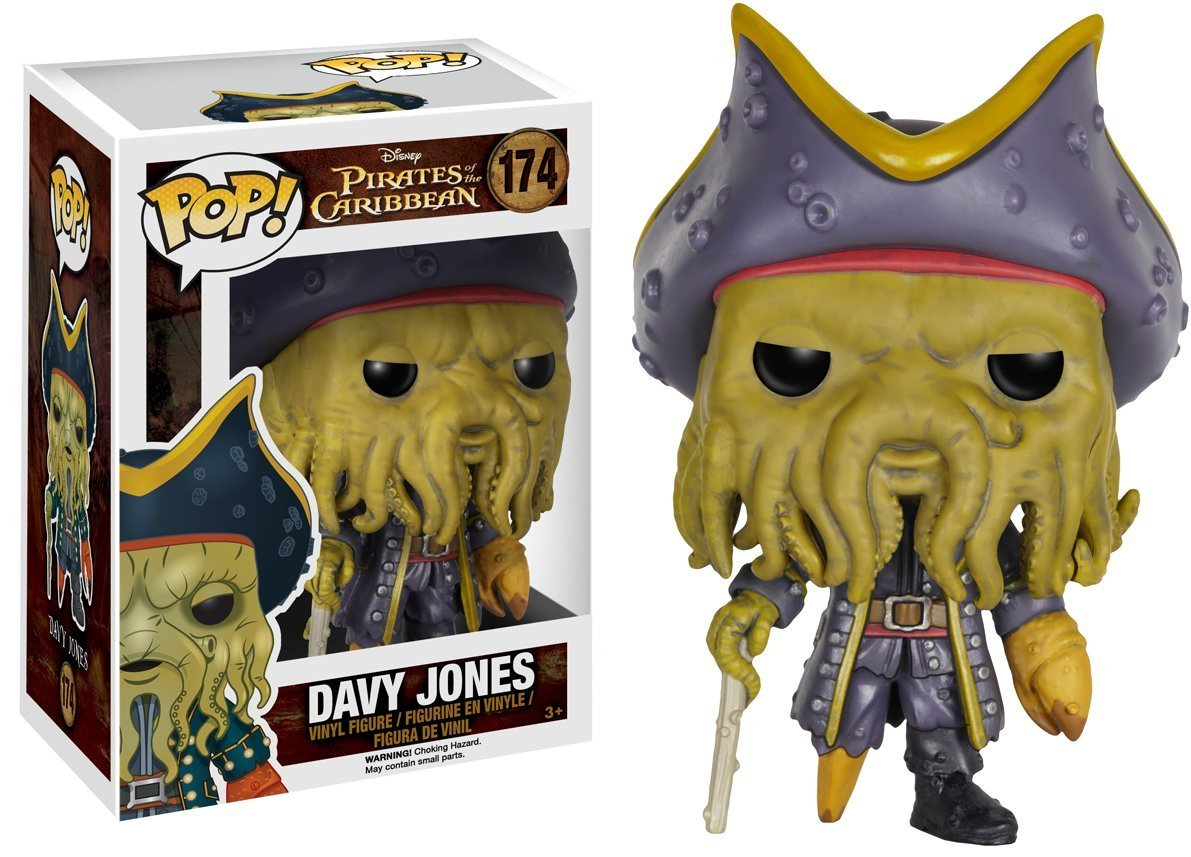 Funko POP Pirates of the Caribbean 5 Dead Men Tell No Tales Davy Jones Action Figure 10cm Vinyl