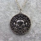 Pirates of the Caribbean 5 Dead Men Tell No Tales Vintage Alloy Aztec Coin Pendant Necklace Silver
