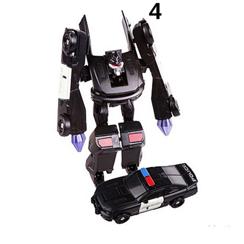 Mini Police Plastic Robot Cars Transformers The Last Knight Action Figure Educational Puzzle