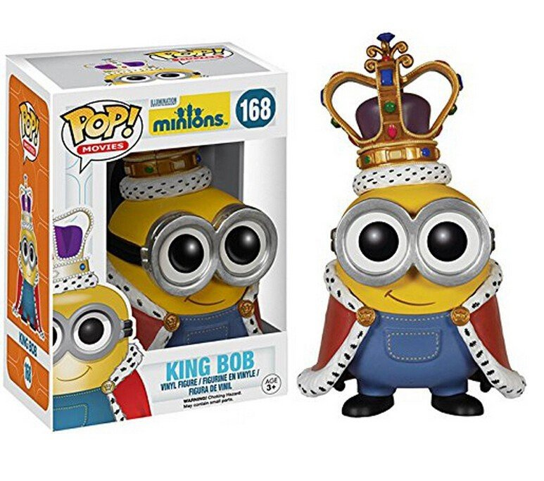 Funko POP Movies Despicable Me 3 Minions King BOB 10cm Vinyl Figure Pvc