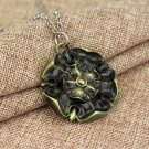 Game of Thrones Growing Strong House Tyrell Necklace Symbol Spiny Flower Bronze