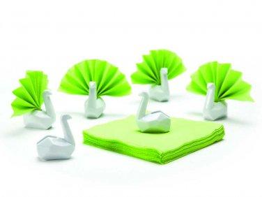 Peleg Design NAPKIN 6 SWANS Ceramic Napkin Holders Home Kitchen Gifts Office free ship
